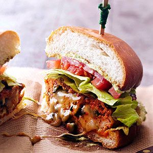Chorizo-Chicken Burger @Better Homes and Gardens