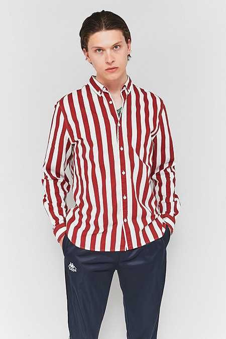 Loom Deck Stripe Burgundy Long-Sleeve Shirt