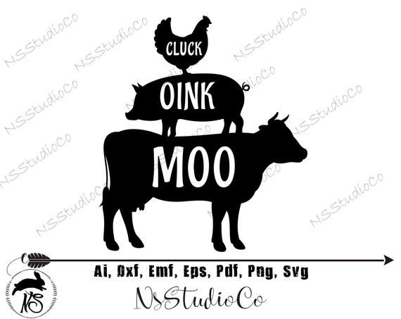Farmhouse Svg, Farm Svg, Cow Svg, Farm Animals, Pig, Cow