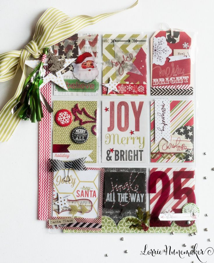 "Inspiration Christmas ATC Artist Trading Card ""Joy Merry & Bright"" Christmas Pocket Letters @LorriesStory"