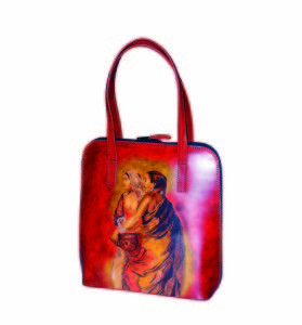 Ručne maľovaná kabelka 8192 inšpirovaná motívom Edwin Lord Weeks