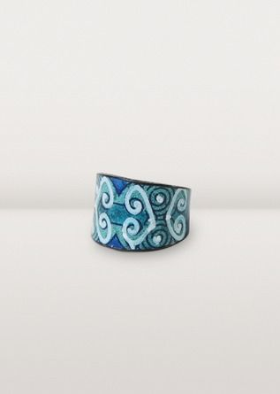 Ten Thousand Villages - Hand Painted Leather Ring
