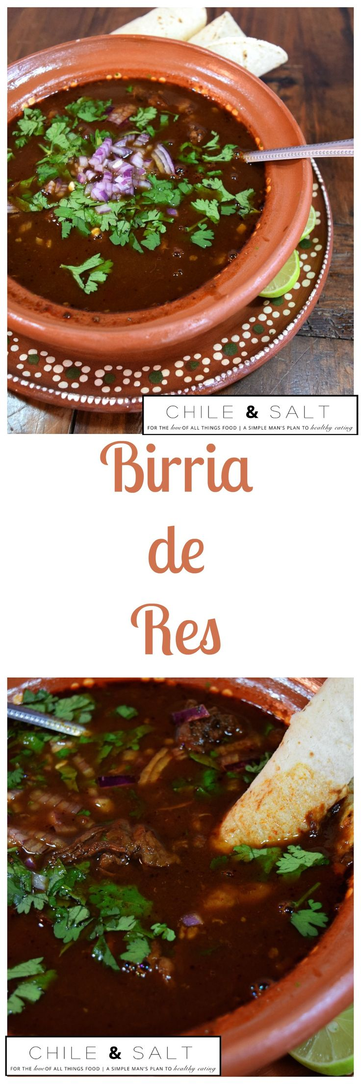 Birria de Res is this simple man`s plan to better eating today. Typically made with beef, goat, lamb or pork, dried peppers & Mexican spices it`s warming with really complex flavors.