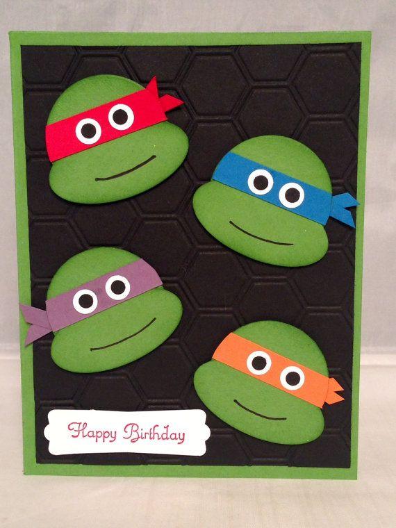 Teenage Mutant Ninja Turtles Birthday Card by DreamiasCreations, $4.25
