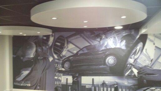 F1 auto centre vinyl graphic