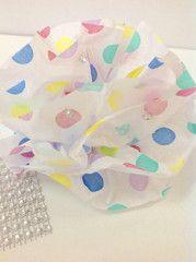 Mini Bling tissue flowers