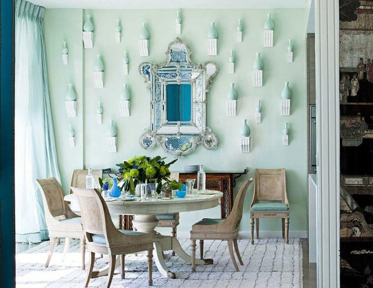 Blue And White Chinoiserie Entryway additionally Ivana Trump furthermore Beloved Giraffe Sweatshirt furthermore Miles Redd together with Coralina Small Bordered Oval Platter. on oscar de la renta dining room