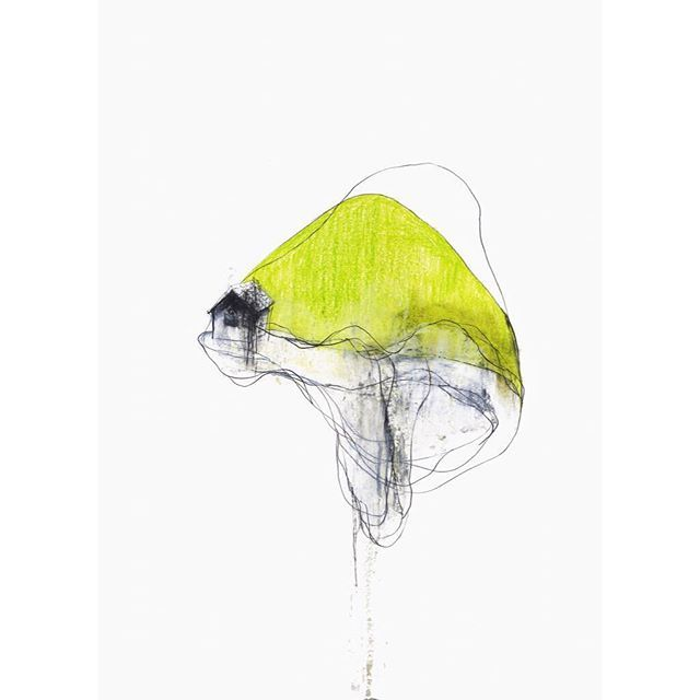 060308-1 2006 54.7 x 39.8cm pencil, oil pastel, colored pencil on paper. Private collection . small size drawing : @ko_ushijima_drawings . #japaneseart #artist #artwork #asianart #contemporarydrawing #modernart #contemporaryart #simple #visualart #fineart #void #stillness #mnmlko_ushijima