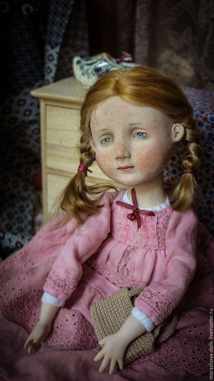 Коллекционные куклы ручной работы. Заказать Рыжая в розовом. Мурашова Наталья. Ярмарка Мастеров. Авторская кукла