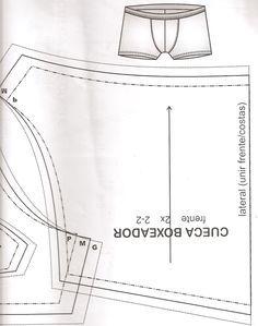 Moda Costurada: Molde Cueca Boxer!                                                                                                                                                                                 Mais