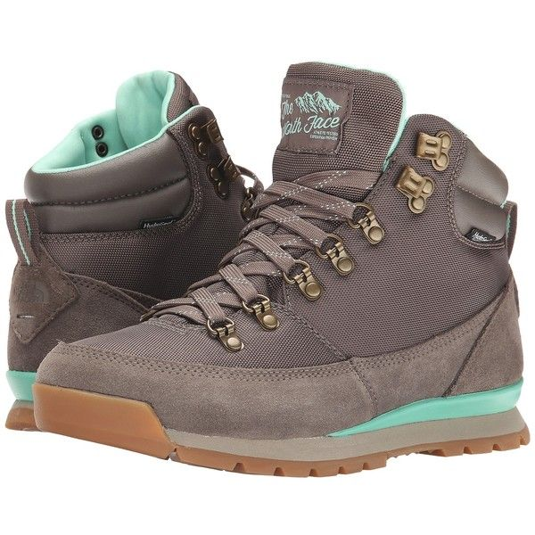 The North Face Back-To-Berkeley Redux Women's Hiking Boots, Brown ($85) ❤ liked on Polyvore featuring shoes, brown, traction shoes, hiking boots, waterproof hiking boots, dog footwear and water proof hiking boots