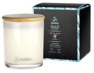 Beach House White Musk & Lotus Scented Soy Candle