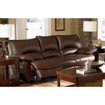 $987.00  Coaster Furniture - Clifford Double Reclining Sofa in Brown Leather - C600281