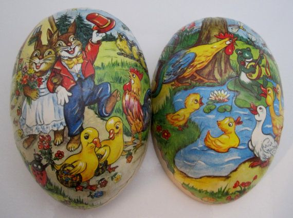 I love these old German Easter Eggs