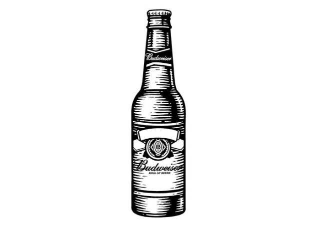 Botella De Cerveza Dibujo: Budweiser Beer Bottle #Style #Beer