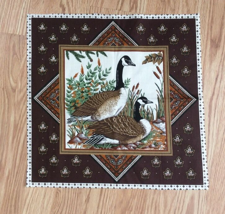 Vintage VIP Cranston Print Works Fabric Canada Geese Panel Pillow Bags Quilt  | eBay