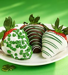 St. Patrick's Day Chocolate Covered Strawberries - St. Patrick's Day Strawberries 6ct