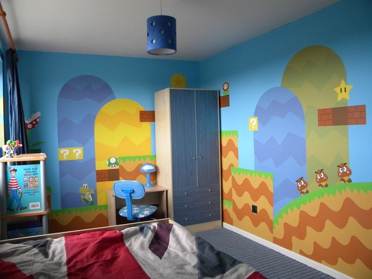 super mario room paint me a picture
