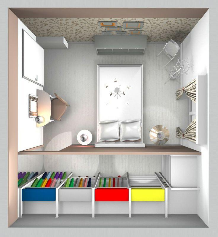 plani volumetrico  camera con cabina armadio abitabile
