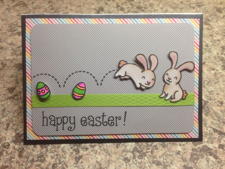 Lawn fawn happy easter card