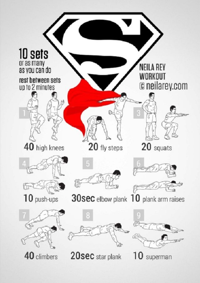 devenir un papa super heros - musculation Superman