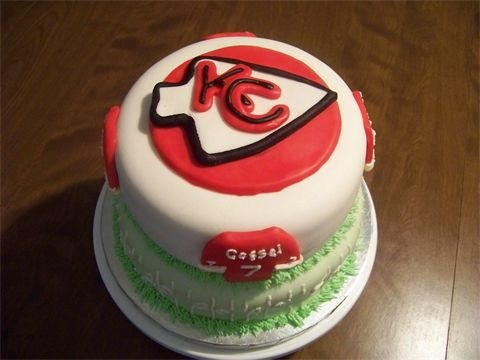 23 Best Images About Kansas City Chiefs Cakes On Pinterest