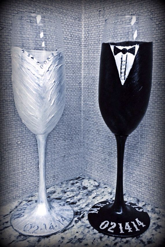 35 best wedding toast glasses images on pinterest champagne flutes set of 2 wedding champagne glasses by sararodgersartwork on etsy solutioingenieria Choice Image