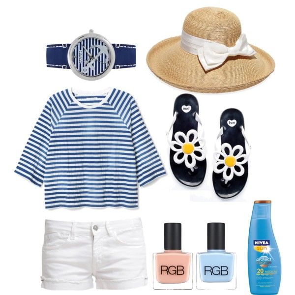 A fashion look from March 2015 featuring Le Temps Des Cerises shorts, Mel by Melissa flip flops and Sperry Top-Sider watches. Browse and shop related looks.
