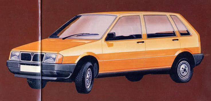 OG | 1984 Fiat Uno | Design sketch for this initially project developed by Lancia