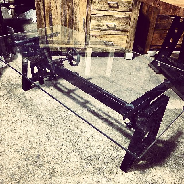 Make A Bold Statement With This Industrial Inspired Coffee Table. #nadeau # Furniture #