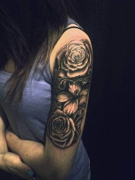 Half sleeve girl