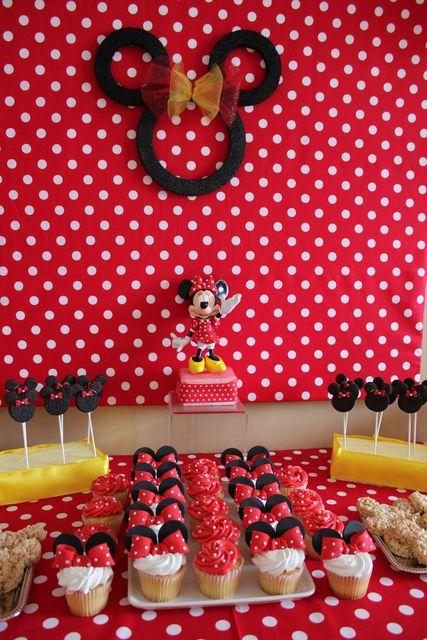 Photo 1 of 15: Minnie Mouse / Birthday Aubreys 2nd Birthday a Minnie affair | Catch My Party