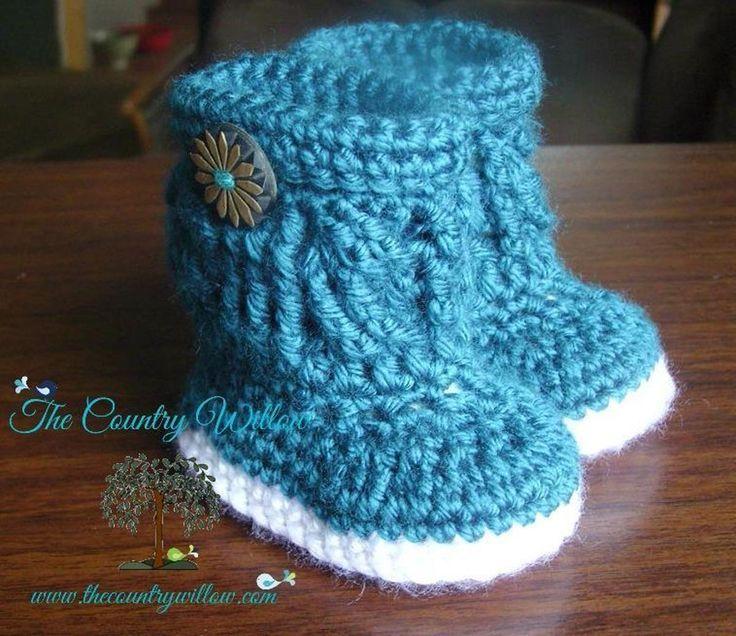Mejores 100 imágenes de Baby Boots Crocheted en Pinterest | Patrones ...