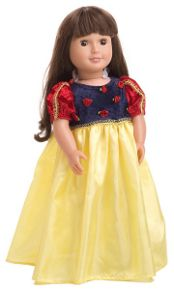 A matching Snow White Dress for your doll or furry friend. #dollclothes #princessdress #rosiesboutique #rosiesteaparty
