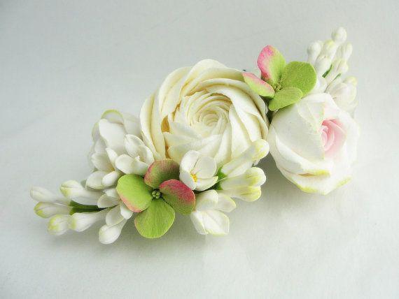 rustic wedding woodland wedding flower hair от FlowerFromEugene