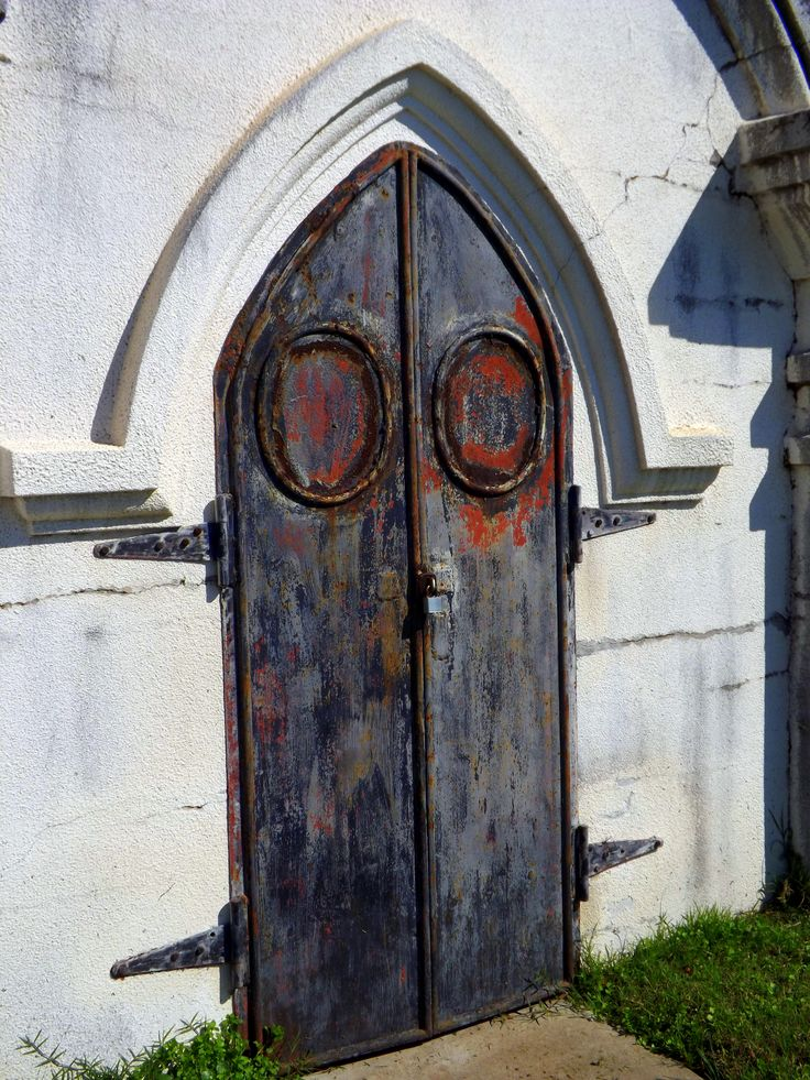 Doors from an old Mausoleum at Old Galveston Cometary. 2013