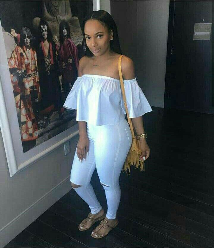 brave all white outfit black girl