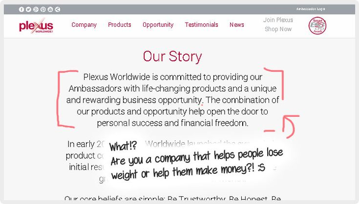 It was hard to find this over the overwhelming comments of how much Plexus works for them, but for the REAL truth about Plexus and their company please read this article.