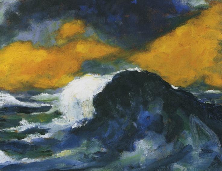 Emil Nolde (1867-1956) – Hohe Sturzwelle (1948)