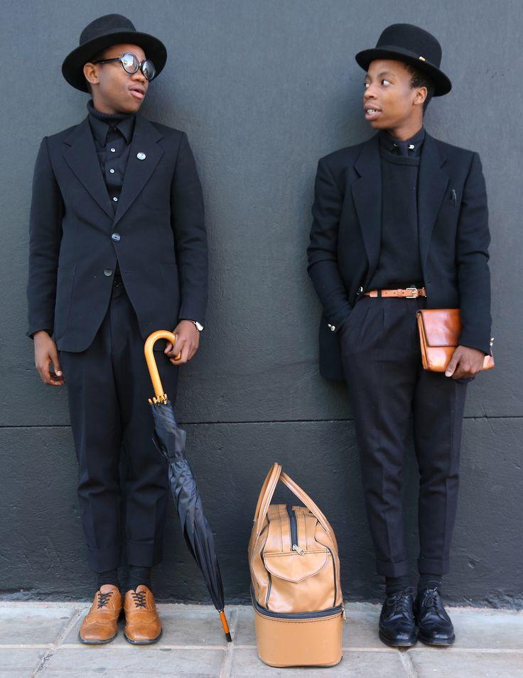 Kabelo Kungwane and Wanda Lephoto sartists. Black and Tan.