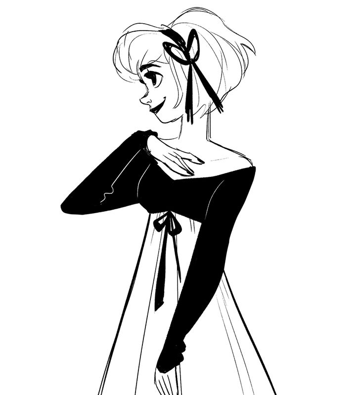 Lady with a bow