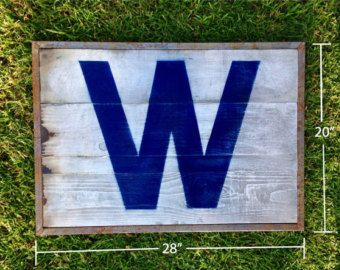 CUBS WIN!!!!...rustic industrial wood and metal flag/wall art. World Series 2016. Chicago Cubs - Edit Listing - Etsy