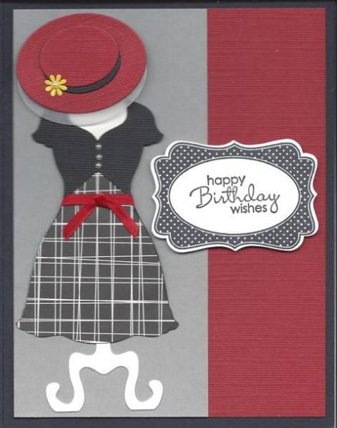 Birthday Dress by TATE - Cards and Paper Crafts at Splitcoaststampers