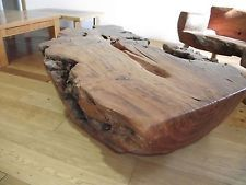 Handmade Eucalyptus Root Coffee Table - Unique Piece Art - 100% Solid - 1 Piece