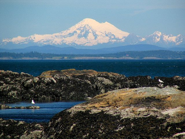 Mount Baker from Victoria BC