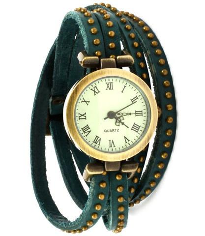 Studded Wrap Around Watch - Teal