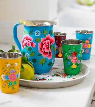 tin pitcher and drink set perfection!