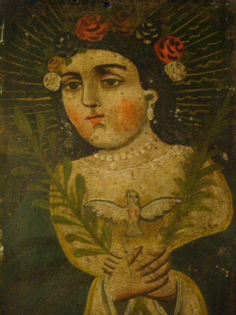 Vintage Mexican folk art