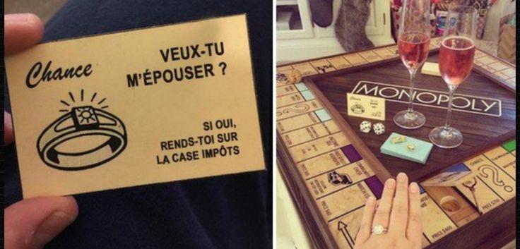 Il crée sa propre version du Monopoly pour faire sa demande en mariage à sa moitié... C'est adorable ! #espacebuzz