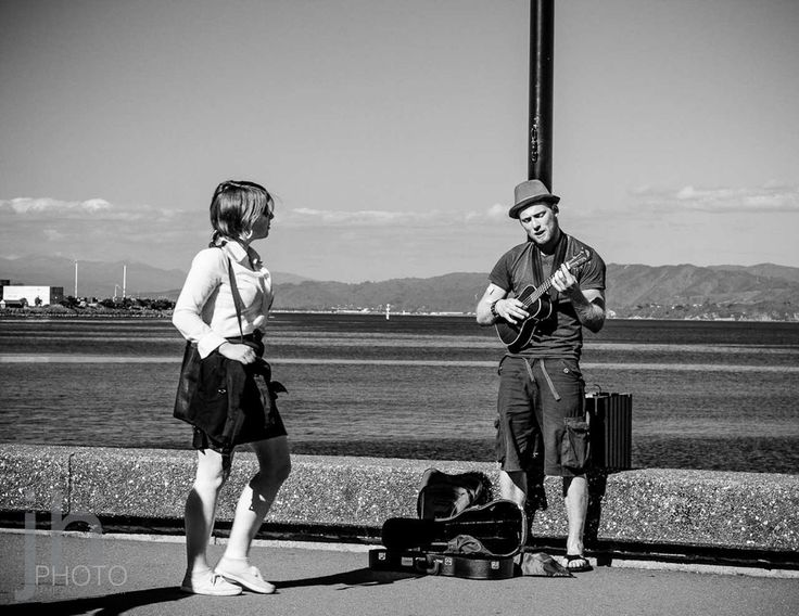 My Streets 75 | http://jhpv.co/1YZmAFI My Streets 75  Who doesn't admire a musician?  A busker playing by the waterfront in Wellington.  ---------- I hope you're enjoying the #MyStreets series. Don't forget to LIKE/SHARE!   - #Canon, #MyStreets, #StreetPhotography